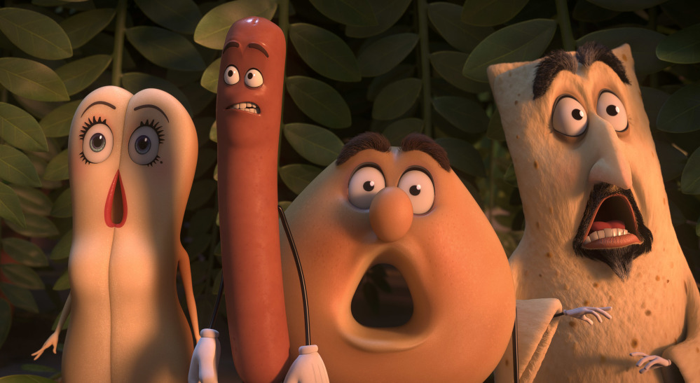 """Sausage Party,"" a bawdy animated movie co-written by Seth Rogen and Evan Goldberg, debuted in second place at the box office with a $33.6 million haul this weekend."