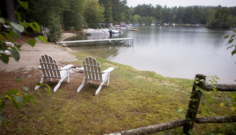 """The Little Sebago Lodges neighborhood on the west side of Little Sebago Lake includes waterfront property that one homeowner calls """"a cash cow"""" that would benefit the town of Gray in a revaluation."""