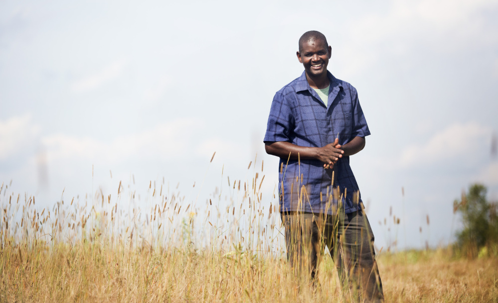 Hussein Muktar at New Roots Cooperative Farm in Lewiston