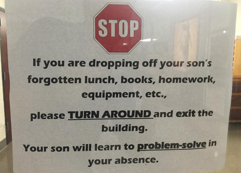 No need to read between the lines on the sign at the Catholic School for Boys in Little Rock, Ark., which has been shared on Facebook more than 120,000 times.