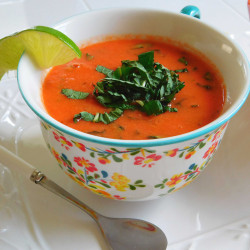 Chilled Watermelon-Basil Gazpacho will help you indulge in summer one last time.