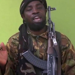 Abubakar Shekau appears in a 2014 video by Nigeria's Boko Haram terrorist network.
