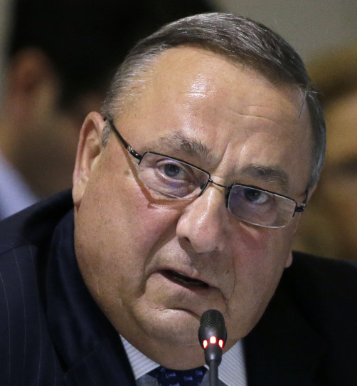 Gov. Paul LePage speaks at a governors meeting in Boston in August.