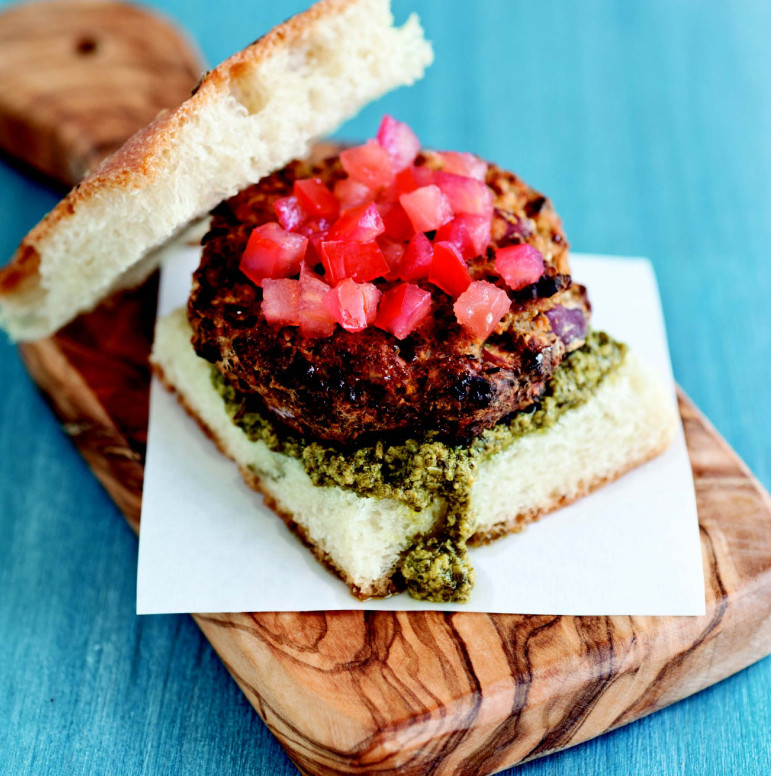 Italian Herb Burger adds some spice to the veggie burger scene.