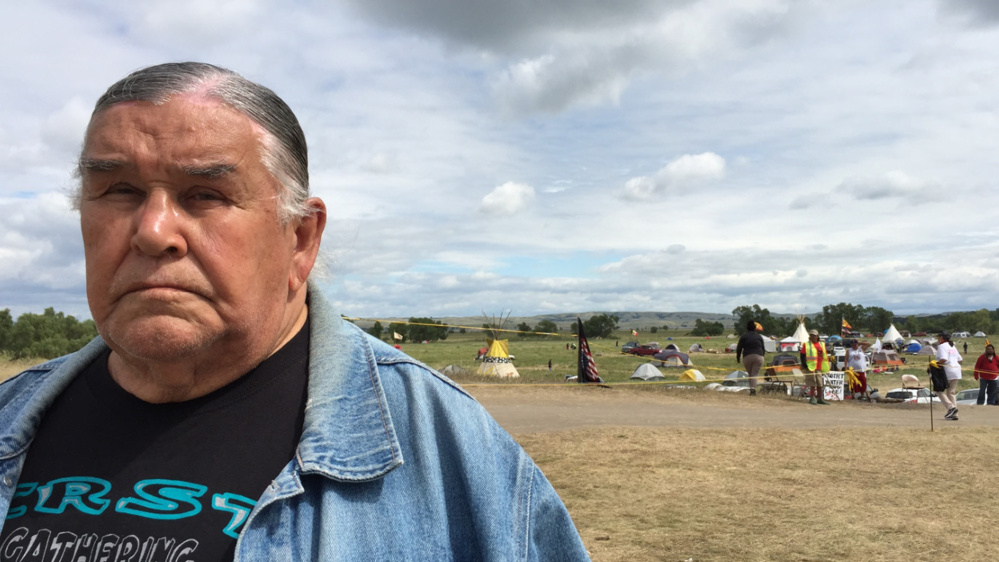 """Clyde Bellecourt, 80, who helped found the American Indian Movement in the 1960s, said he sees """"fresh energy"""" among younger Native Americans fighting to stop the Dakota Access pipeline."""