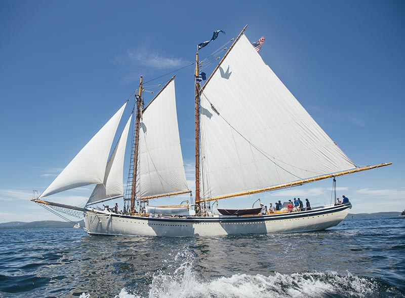 The American Eagle  races during the 2015 Great Schooner Race in Rockland on July 3, 2015. Press Herald file photo