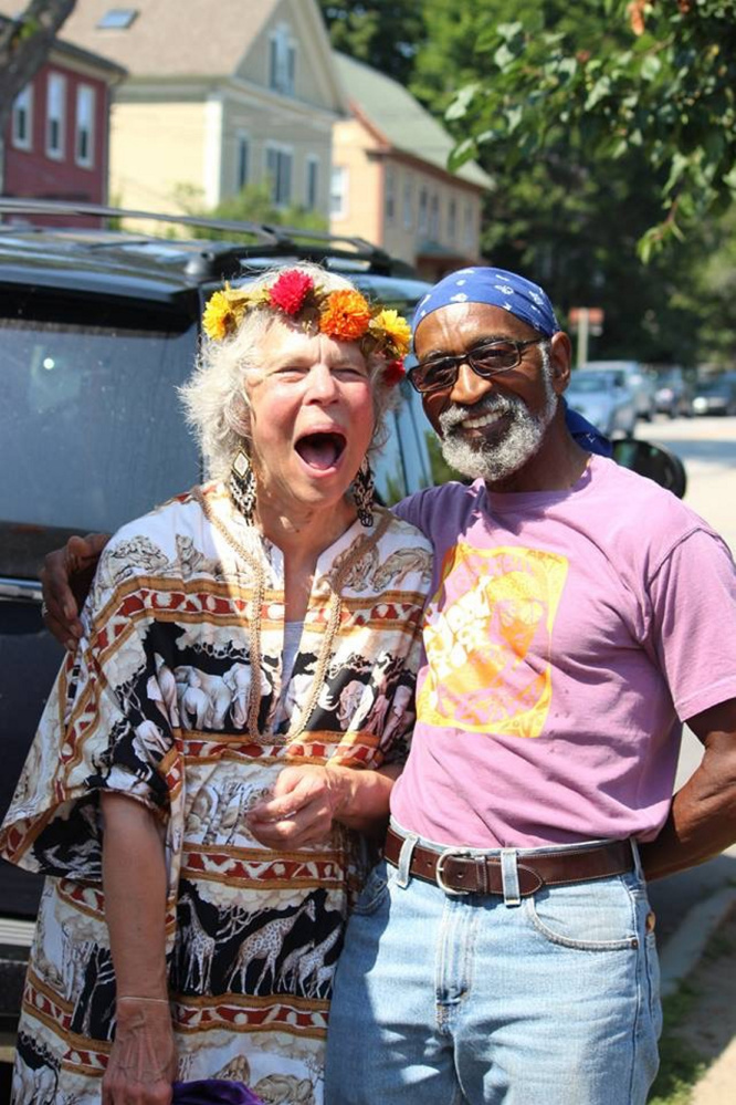 Maggie Warren and Mike Fitz attend last year's Woodstock Revival and Art Walk in Hallowell.