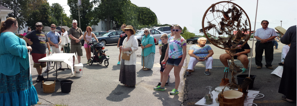 Crowd gathered at last year's Walk a Mile for Water in Waterville.