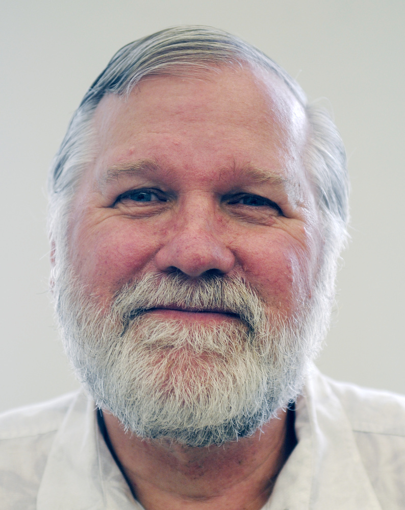 David Sawyer, of South Portland, seen Monday at the Winthrop Town Office, has been appointed as the town's interim tax assessor following the death last month of the town's last assessor, Donald Cadwell.