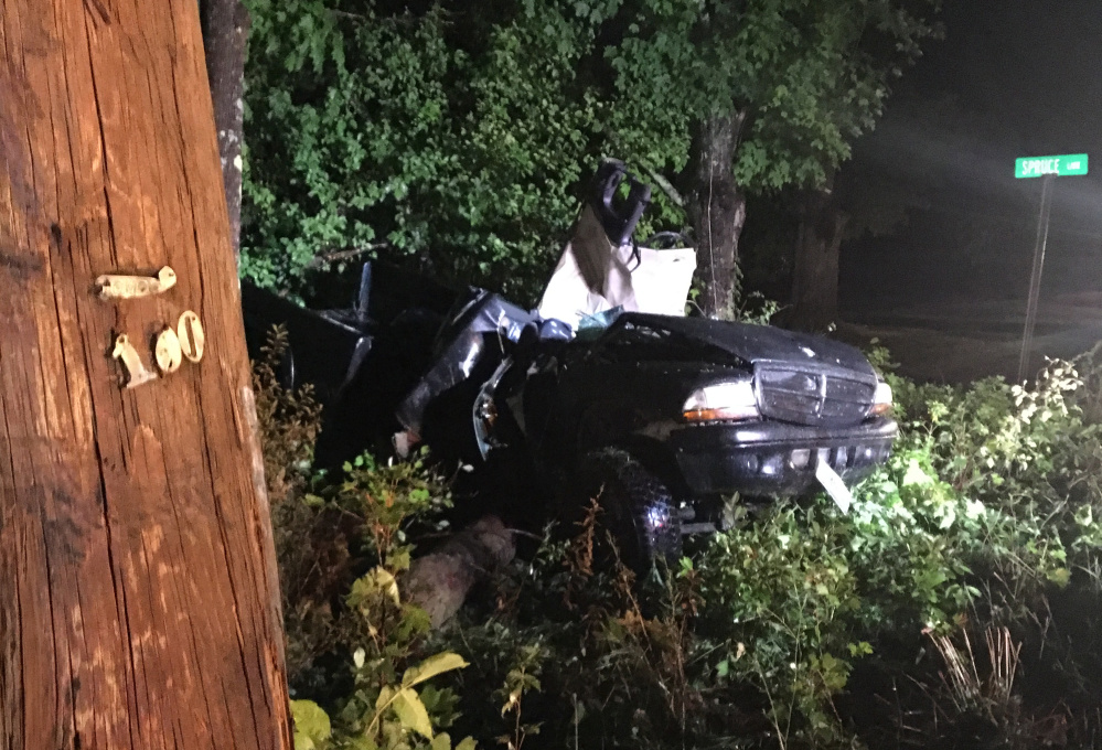 A Clifton man was killed when the pickup truck he was a passenger in went off U.S. Route 202 in Unity on Tuesday night, hitting a utility pole. Two others in the truck, including the driver, were injured.