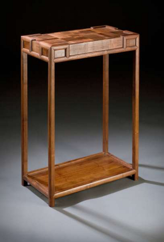 Rockland's Brian Reid whose submissions included TartanDesk (2008), crafted from Padouk, Rosewood, and Macasser Ebony.