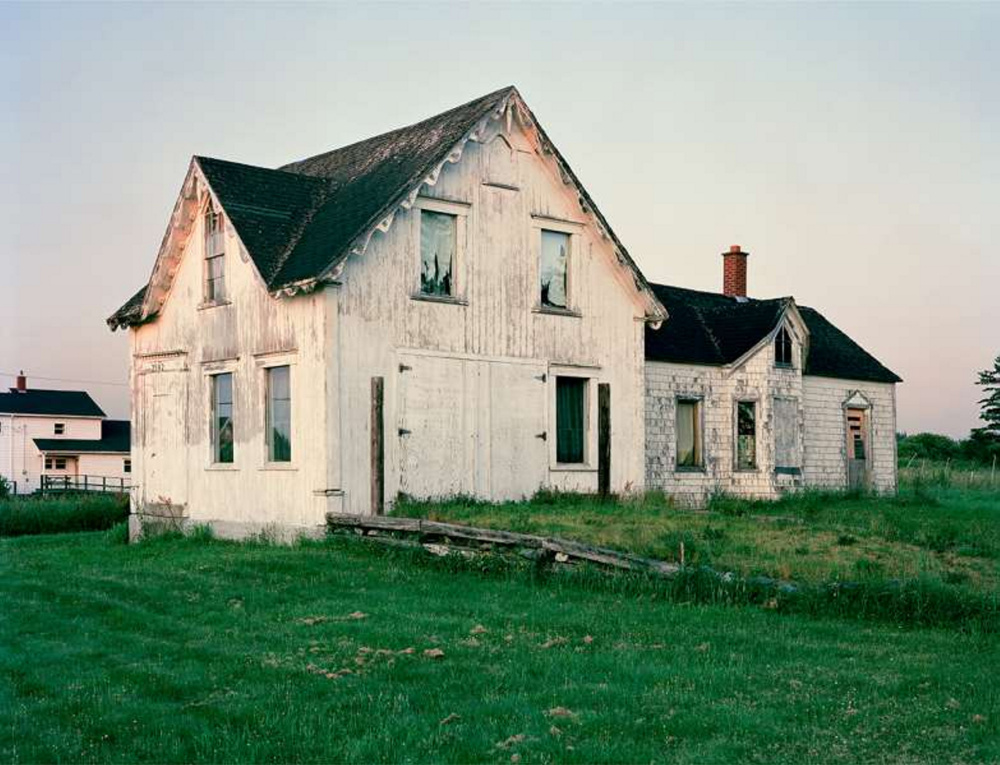 "Photographer Mark Marchesi of South Portland, ""Vacant House Grosses Croques."""