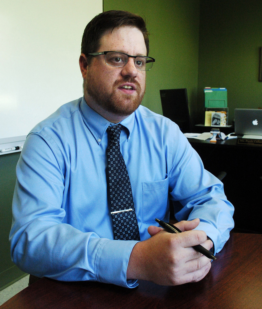 New Messalonskee High School Assistant Principal Sam Dunbar came to the position from Mt. Blue High School in Farmington.