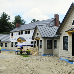 Visitors look around at the Travis Mills Foundation's Maine Chance Lodge in Rome in this July 23 file photo. Tools estimated to be worth more than $2,000 were reported missing on Monday.