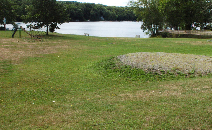 The park, beach and boat launch area at the Oakland boat landing on Messlonskee Lake in Oakland is seen Monday. Town councilors plan to discuss renaming the boat launch Wednesday.