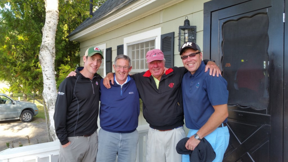 Men's B Division — 1st place winners were from left were Peter Morse, Frank Morse, Phelps Carter and Tripp Carter.