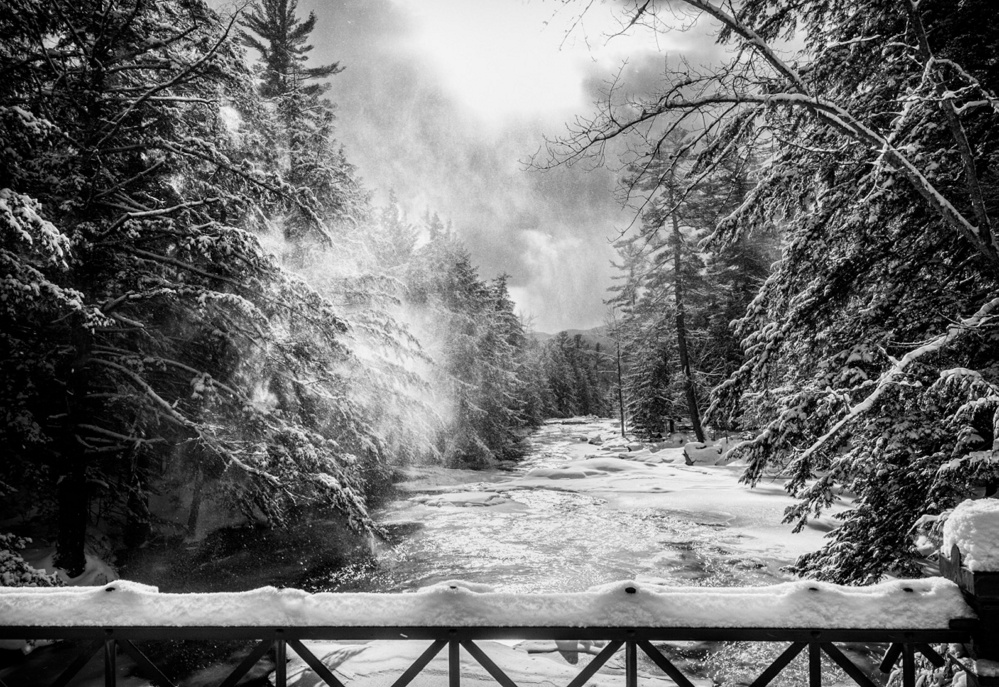"""Frozen River,"" by William Burke, earned Best Overall in the 2015 Juried Competition at the Western Mountain Photography Show presented by the Rangeley Friends of the Arts this year on Sept. 23-25 in Rangeley."