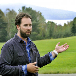 Lucas St. Clair, seen in 2013 at Shin Pond village, has been the public face of the recent effort to establish the Katahdin Woods and Waters National Monument. He is scheduled to speak about the national monument effort Sept. 16 at the Unity College Center for the Performing Arts.
