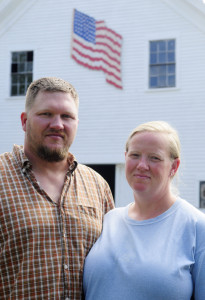 Veterans Walter Morse, left, and Aaron Green-Morse, shown in this Aug. 25 photo, said they chose to settle at Patriot Ridge Farm in Jefferson because they wanted a quiet rural life close to the VA Maine Healthcare Systems-Togus, which they said offers them easy access to healthcare.