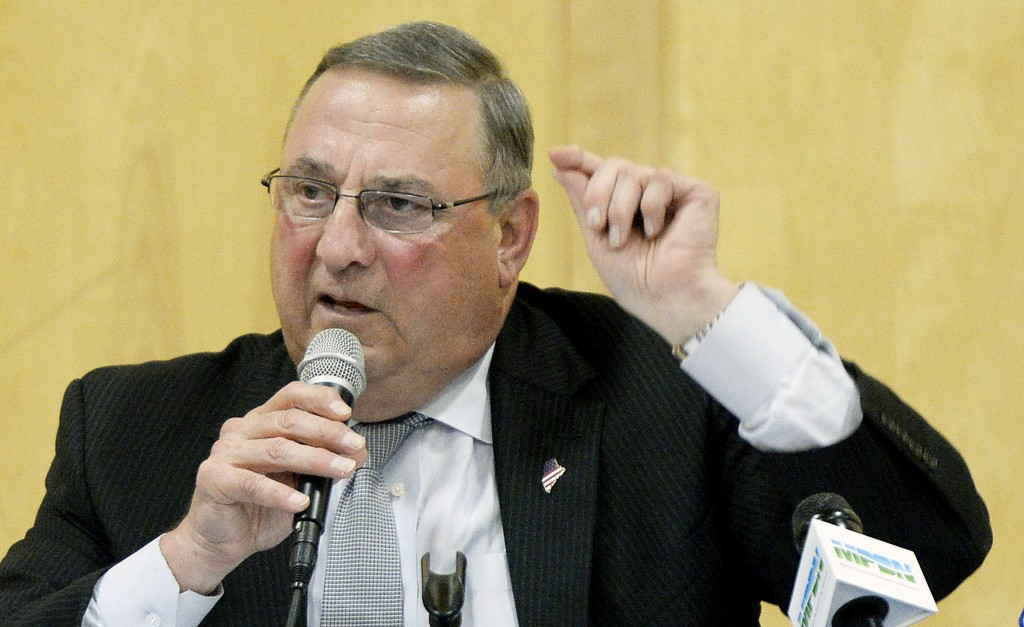BOOTHBAY HARBOR, ME - JULY 6: Gov. Paul Lepage speaks during his town hall meeting at Boothbay Harbor Wednesday, July 6, 2016. (Photo by Shawn Patrick Ouellette/Staff Photographer)