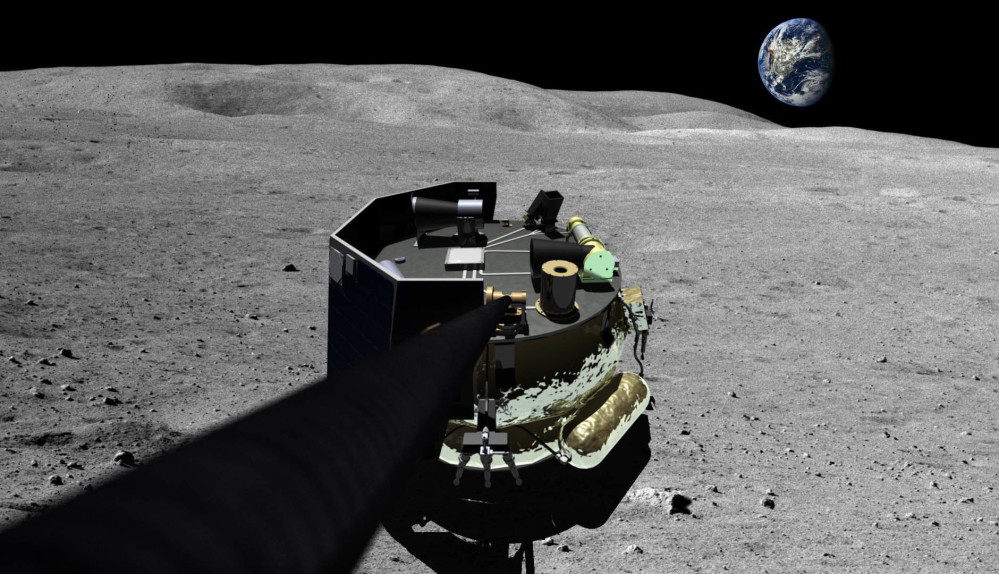 An illustration shows the landing vehicle Cape Canaveral-based Moon Express intends to land on the moon late next year, probably out of New Zealand on a rocket that has yet to fly.