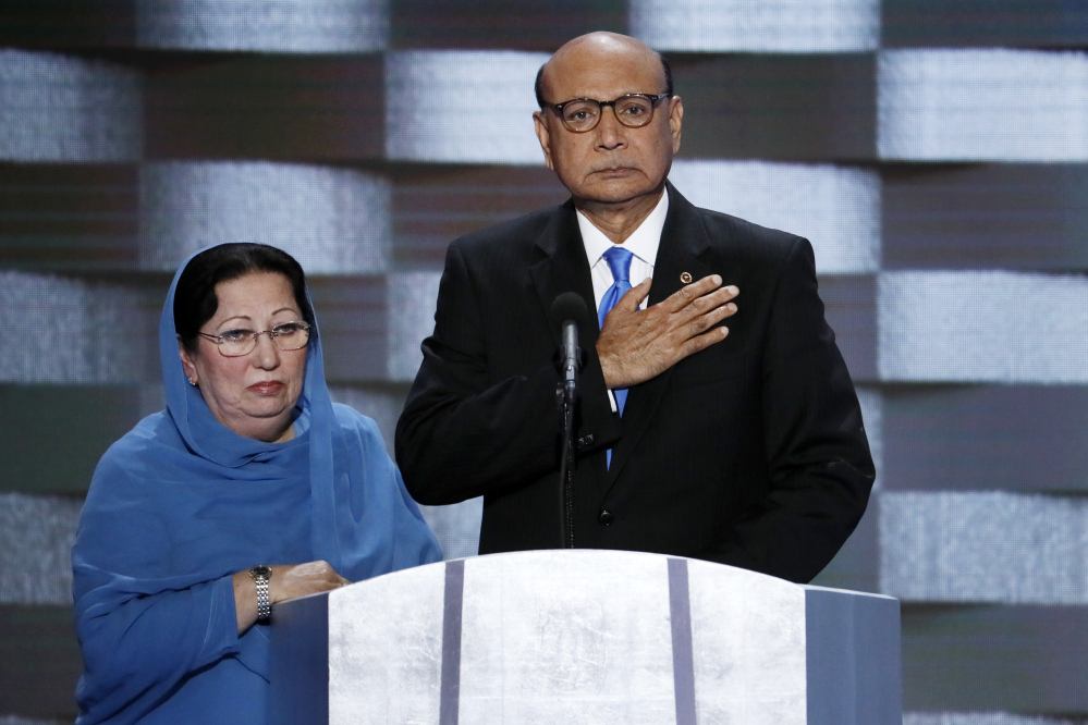Donald Trump has engaged in an emotionally charged feud with Khizr and Ghazala Khan, the parents of a decorated Muslim Army captain who was killed by a suicide bomber in Iraq.