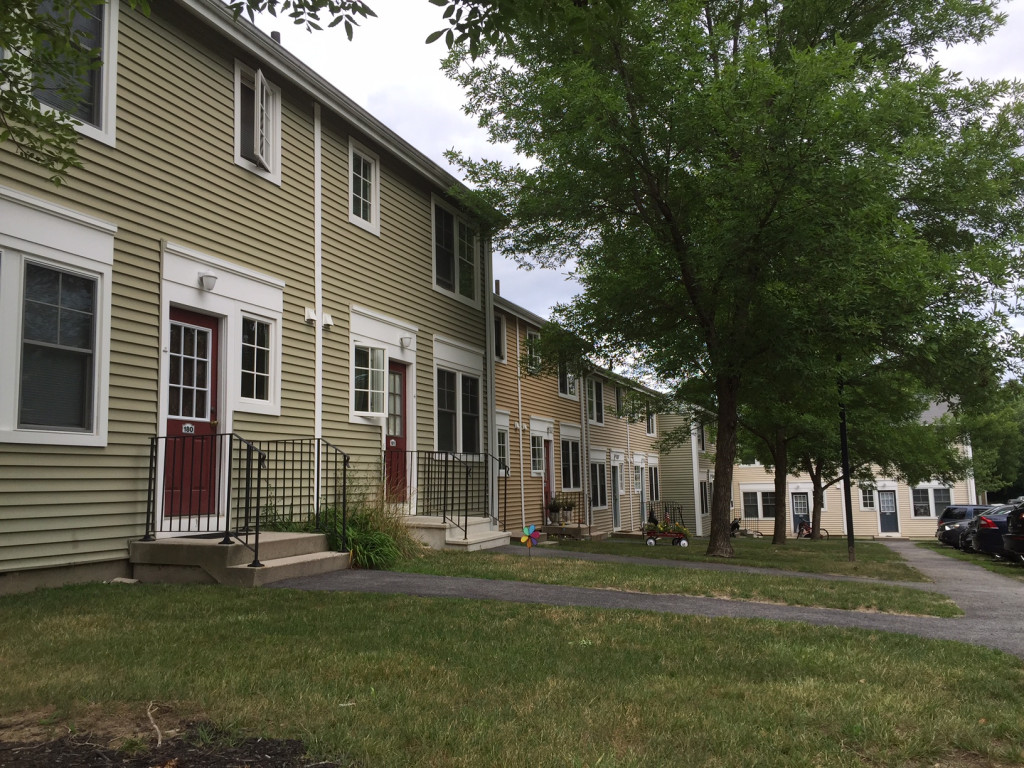 Anti-Muslim threats were found at this apartment complex on Prospect Street in Westbrook on Wednesday.