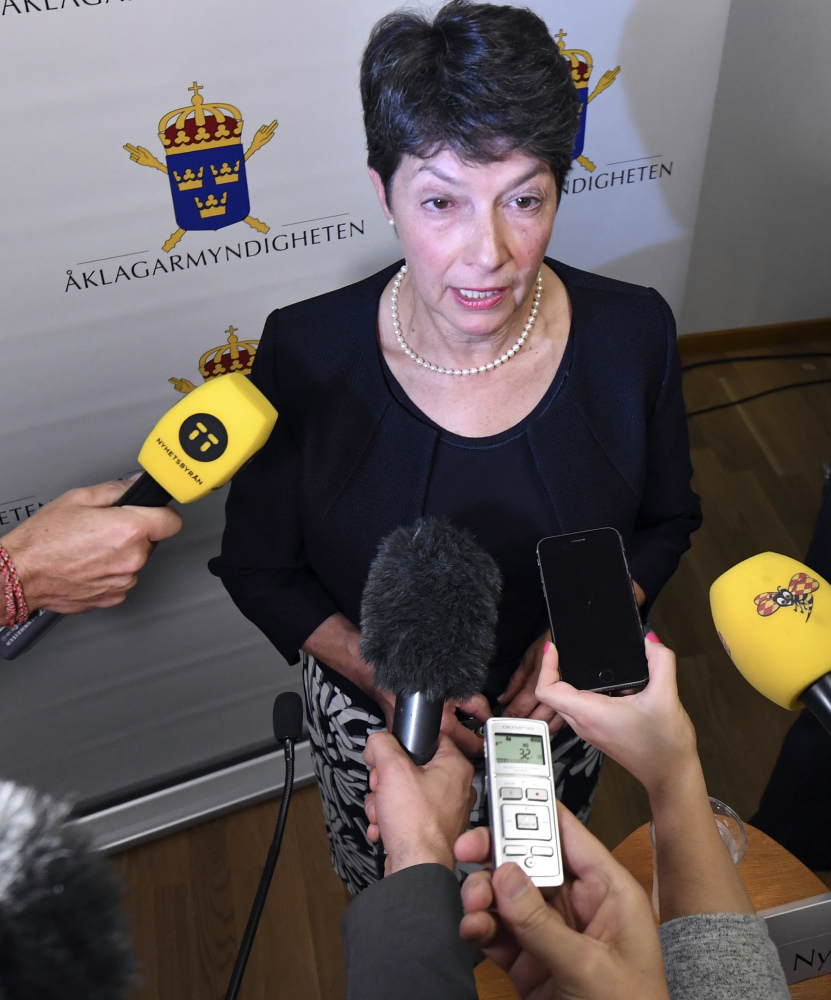 Sweden's Director of Public Prosecution Marianne Ny, left photo, says Sweden is trying to set up interrogation of Julian Assange.