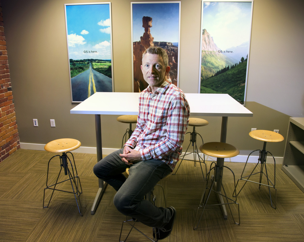 Jeff Jackson is chief technology officer at Esri, a geographic information systems app-maker with an office on Commercial Street in downtown Portland.