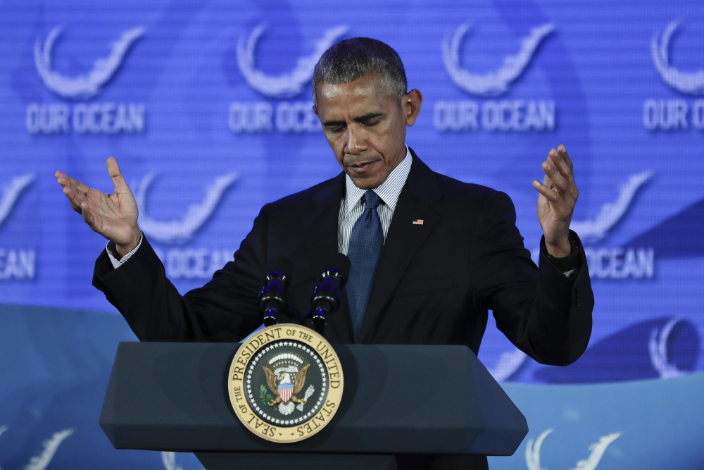 President Obama stresses Thursday that the bold steps are necessary to ensure the well-being of the oceans.
