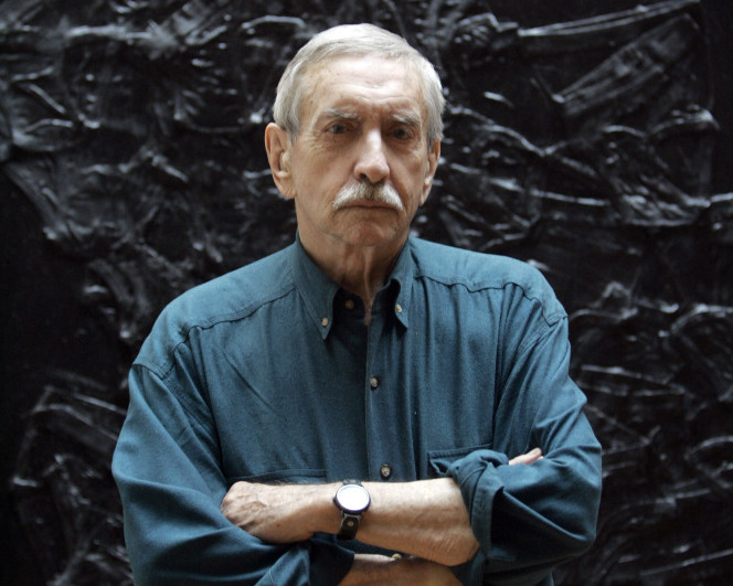 Edward Albee poses for a portrait in New York in March 2008. The playwright challenged audiences to question their assumptions about society.