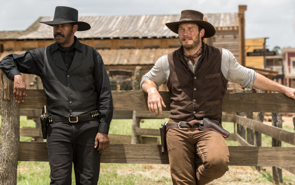 """Denzel Washington and Chris Pratt star in """"The Magnificent Seven,"""" which enjoyed a $35 million weekend debut."""