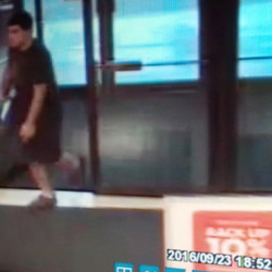 """The suspect in a fatal shooting rampage Friday at the Cascade Mall in Burlington, Wash., is seen in a surveillance video image. Authorities said Arcan Cetin appeared to be """"zombie-like"""" when he was arrested."""