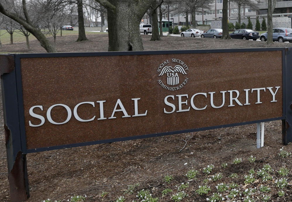 FILE - In this Jan. 11, 2013, file photo, the Social Security Administration's main campus is seen in Woodlawn, Md. More than 60 million retirees, disabled workers, spouses and children rely on monthly Social Security benefits. That's nearly one in five Americans. The trustees who oversee Social Security say the program has enough money to pay full benefits until 2034. But at that point, Social Security will collect only enough taxes to pay 79 percent of benefits. Unless Congress acts, millions of people on fixed incomes would get an automatic 21 percent cut in benefits. (AP Photo/Patrick Semansky, File)