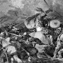 In medieval times, humans were even more violent than we are today, according to researchers who studied the rate of murder and violence among species. Above, an illustration depicts the Battle of Hastings, fought in 1066.
