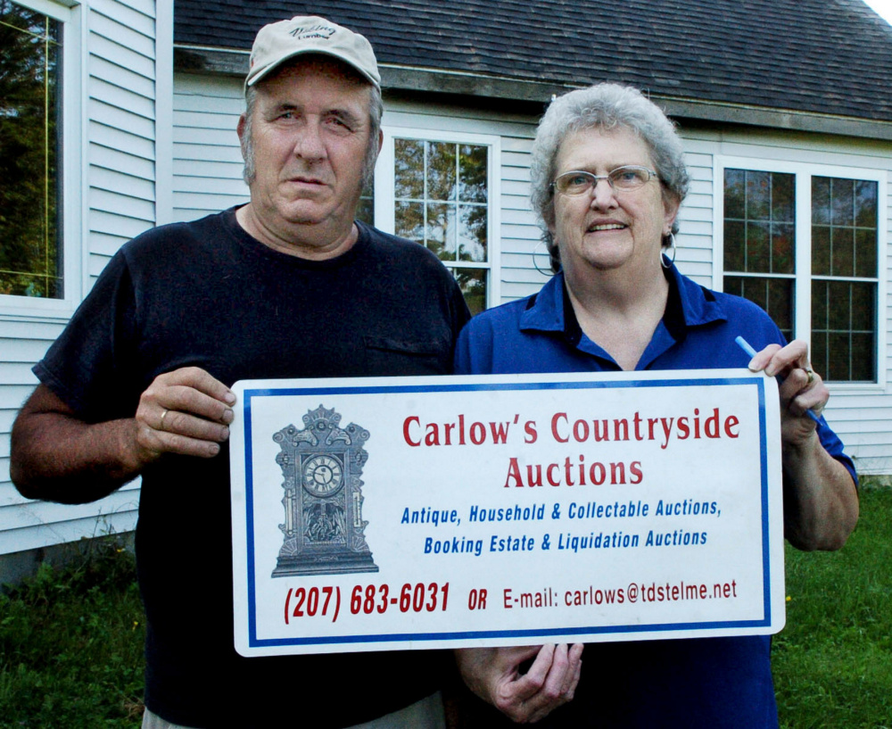 Auctioneers Glen and Rosie Carlow will once again auction off homemade pies at the Harmony Fair this weekend.