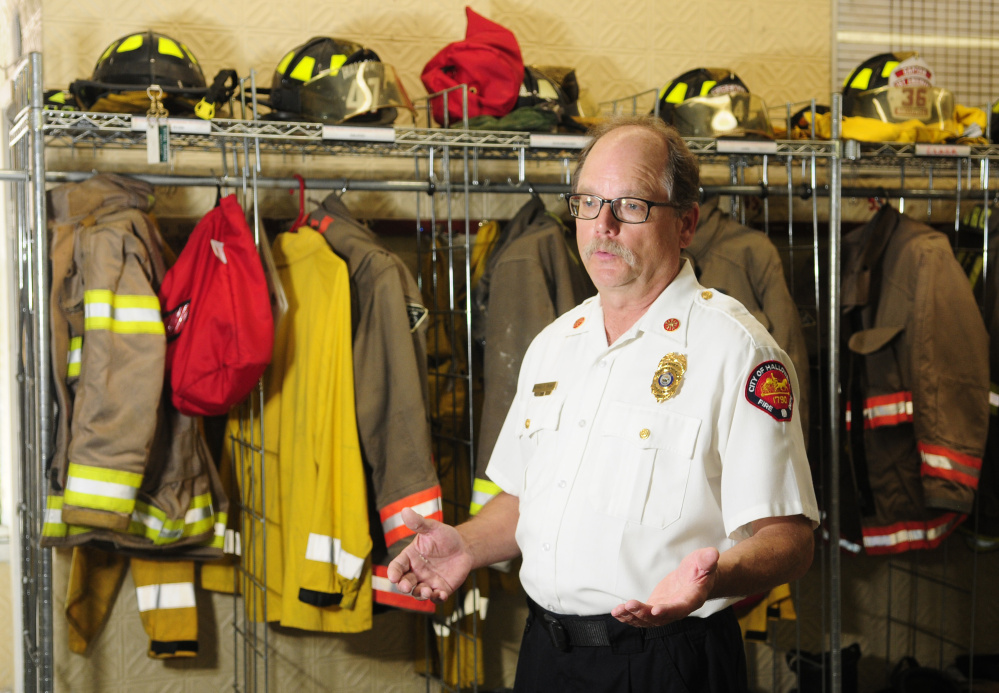 Hallowell Fire Chief Mike Grant, shown at the fire station in this July file photo, said last week that while the city's decision on the future of the fire station may hinge on money, his firefighters are committed to providing a quality service to residents.