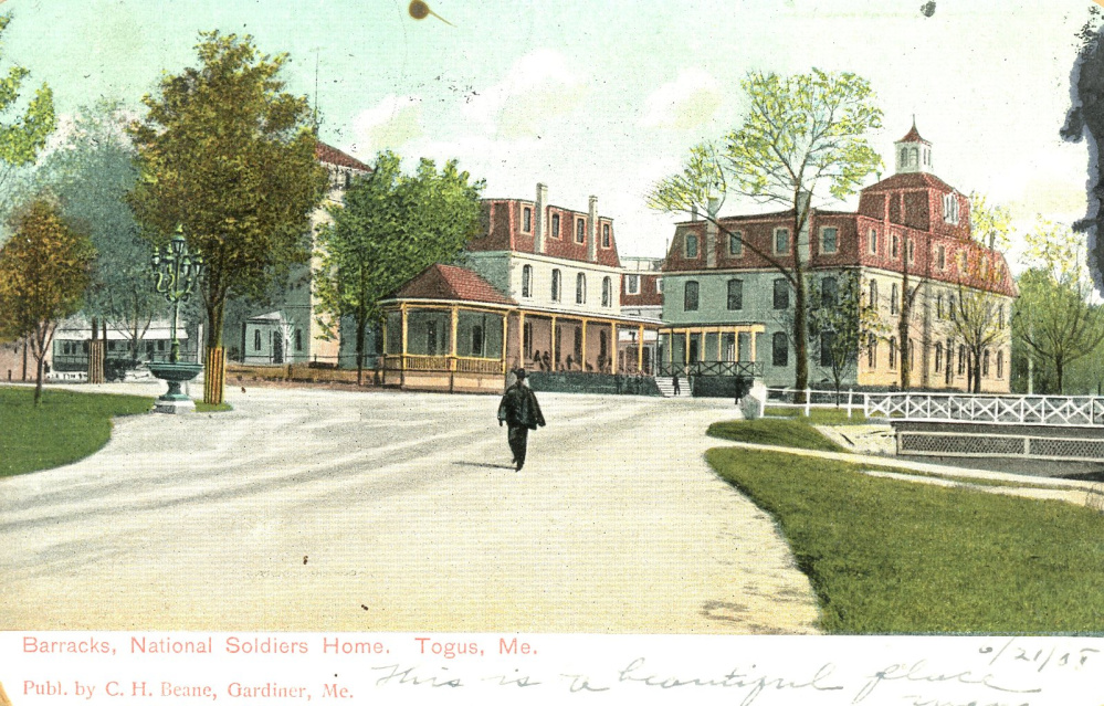 The barracks at the National Soldiers Home at Togus is shown in this postcard that dates to the early 1900s.