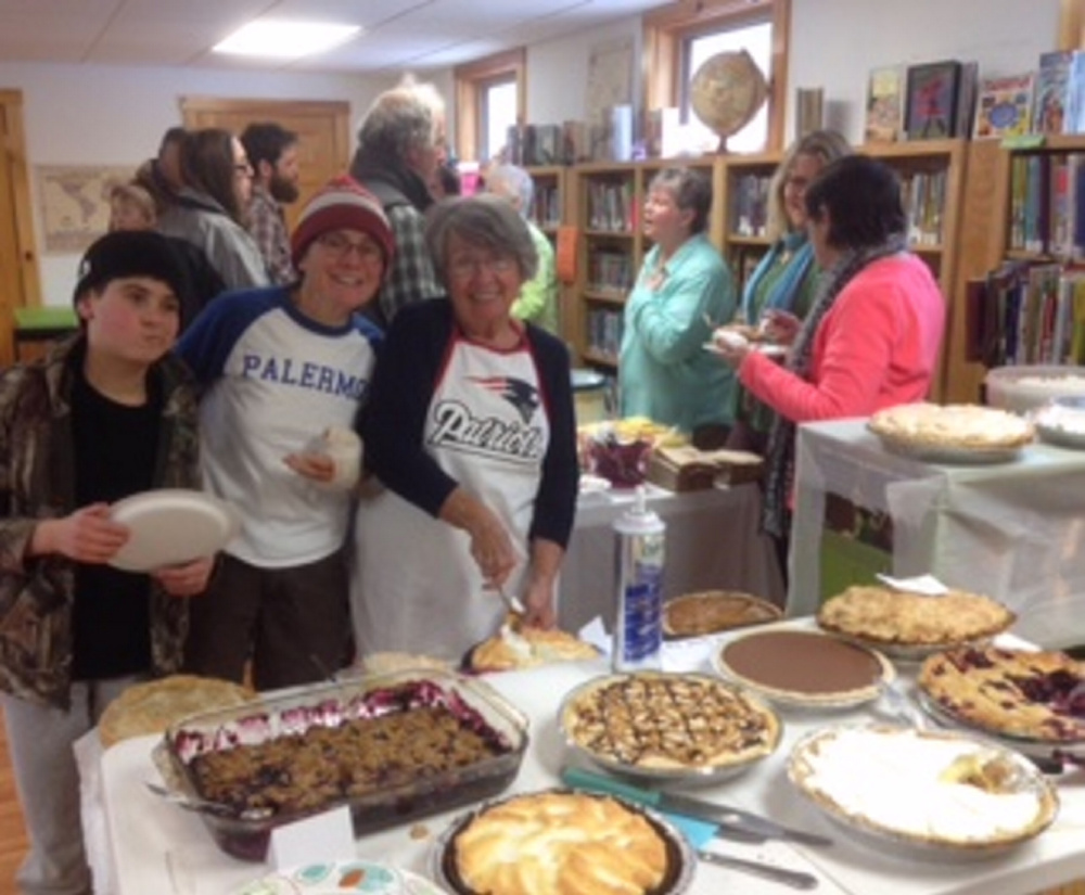 A family gathers at a past March Soup & Pie Social Fundraiser. From left are Emily and Chris Nichols, of Winslow, and Sharon Nichols, of Palermo.