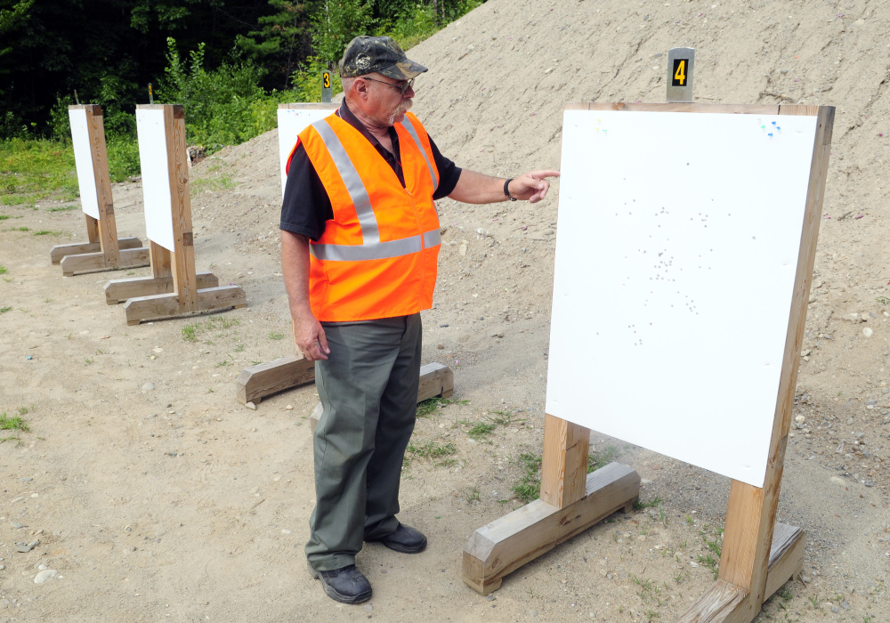 Craig Gerry, range grant coordinator, talks about improvements at the Summerhaven gun range in Augusta in this Aug. 9 file photo.
