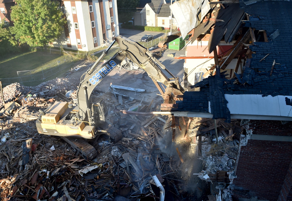Gallery Waterville Elks Building Coming Down Central Maine
