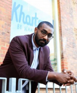Khalid Albaih, a Sudanese political cartoonist, is a human rights fellow this year at Colby College in Waterville.