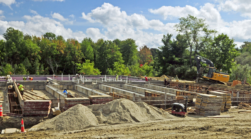 Construction work is under way on the new Leighton Road fire station in Augusta.