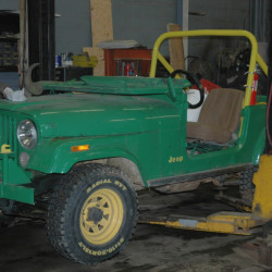 This Jeep CJ-5 was involved in the fatal crash at a haunted hayride in Mechanic Falls.