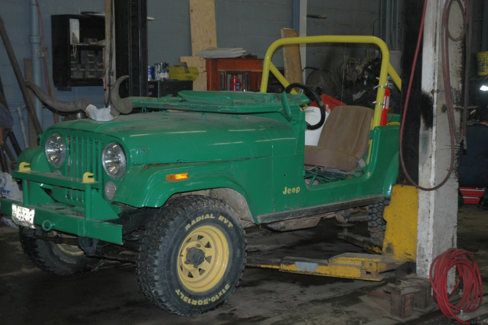 This Jeep CJ-5 was involved in the fatal crash at a hayride in Mechanic Falls. The photo is courtesy of the Maine Department of Public Safety.