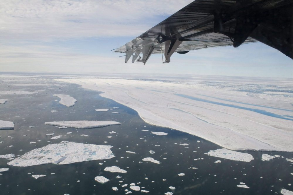 A chunk of ice drifts near the Ward Hunt Ice Shelf off Ellesmere Island in Canada. As global attention turns to the Arctic, Maine would do well to foster trading networks throughout the north.