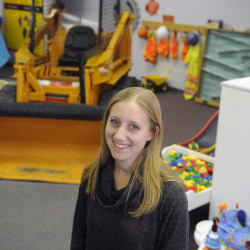Children's Discovery Museum Executive Director Amarinda Keys at the Augusta learning center on Thursday, the day the museum announced it is relocating to Waterville.