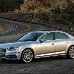 The 2017 Audi A4 is longer, lower and wider than the 2016 model. (Audi)