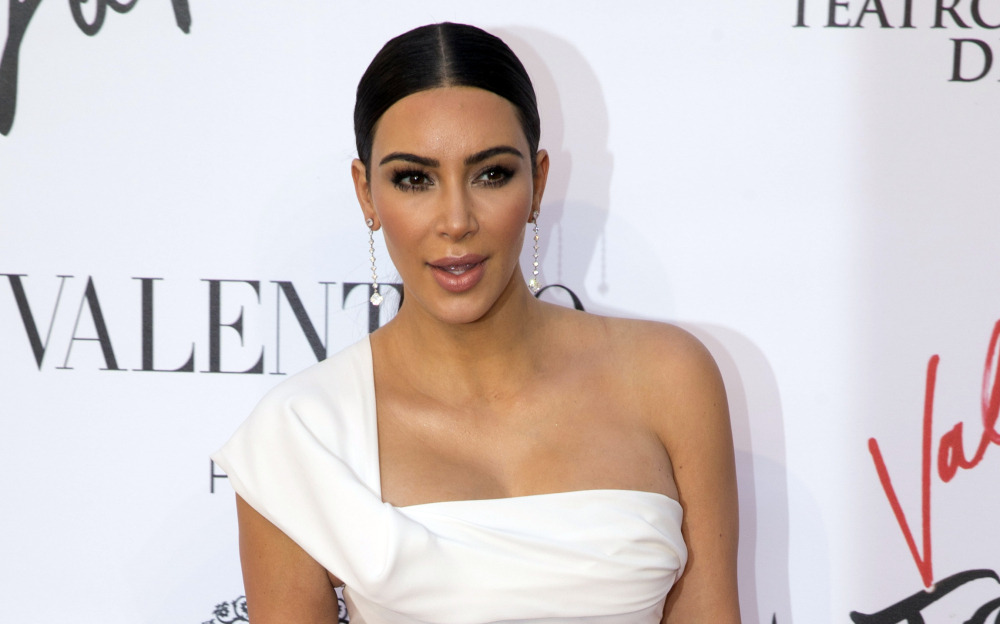 Kim Kardashian, seen in May, was held up at gunpoint inside her Paris hotel room Sunday night, according to her spokeswoman. <em>Associated Press/Andrew Medichini</em>