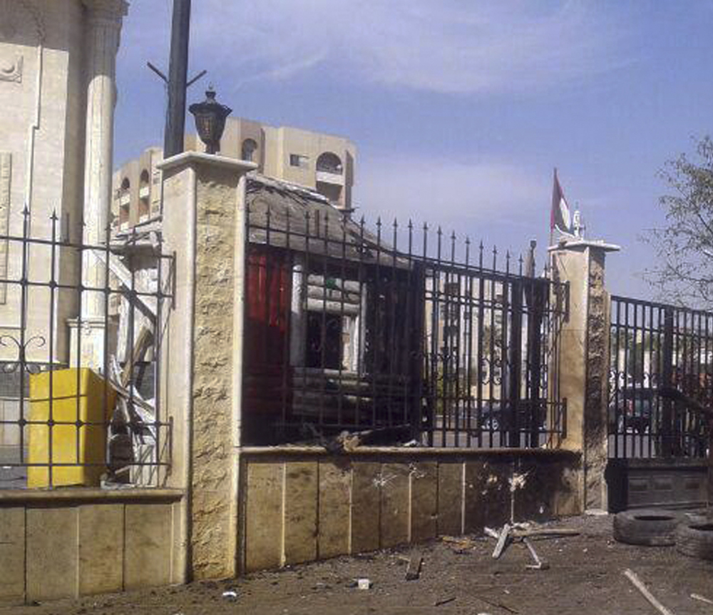Two suicide bombers struck in the Syrian city of Hama on Monday close to an office of President Bashar Assad's Baath party. Three people were killed in the attacks.